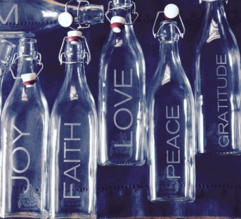 Photo: Engraved bottles by Birdaria